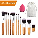 Make-up-Pinsel Set,AIDUE 11 pcs Make-up-Pinsel-Set mit Umweltfreundlich Kordelzug Tuch Tasche für Pinsel Organizer