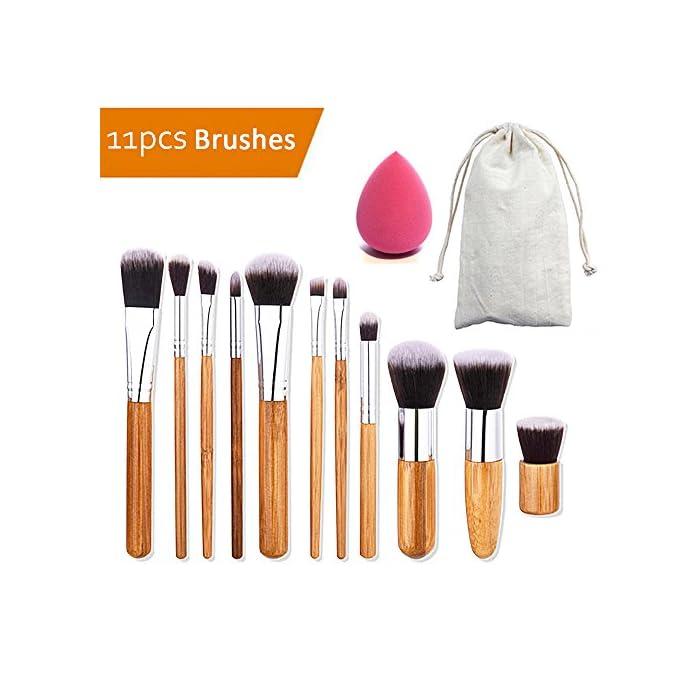 Make-up-Pinsel Set, aidue 32 PCS Kosmetik Pinsel Set Eye Pinsel Lidschatten Pinsel Set Puder-Pinsel Eyeliner Up & Schmink Pinsel mit PU-Leder Fall 1