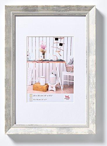 walther design EL824W Chalet Bilderrahmen, 18x24 cm, weiß