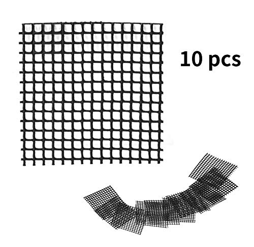 Wifehelper 10 Stücke Gartenarbeit Blumentopf Loch Mesh Matte Pad Pflanze Potting Bonsai Bottom Grid Mat(5 * 5cm)