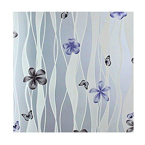 MagiDeal Fensterfolie Sichtschutzfolie Dekofolie Selbstklebend Blütenblatt Fenster Dekor 45 * - Vinyl Weiss Jalousie