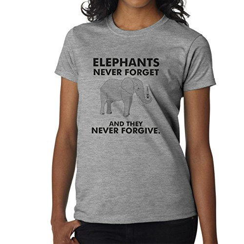 Elephants Never Forget And They Never Forgive Medium Donne T-Shirt