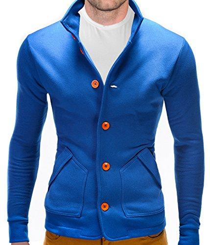 BetterStylz Camaron Homme Veston Blazer Blouson Manches longues diverse couleurs S-XL Royal Bleu