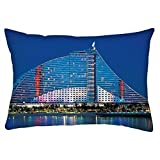 Snoogg Antique Structure Of Building Rectangle Toss Throw Pillow Cushion Cover Decoarative Pillow Case 14 x 22""