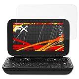 atFoliX Schutzfolie kompatibel mit GPD Win Displayschutzfolie, HD-Entspiegelung FX Folie (3X)