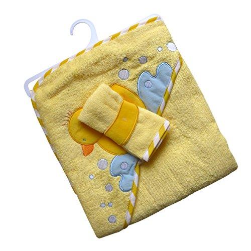 Süßes Babyset ~ Ente gelb ~ Kapuzenhandtuch Handtuch Badetuch Waschtuch