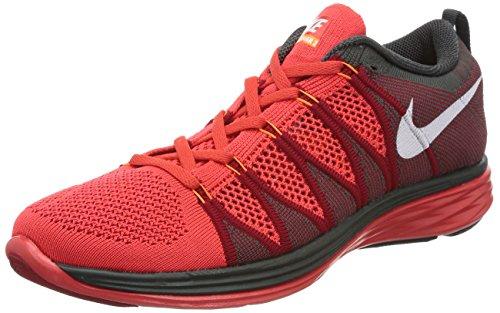 Nike Flyknit Lunar2, Scarpe sportive, Uomo Lite Crimson / White / Gym Red / Midnight Fog