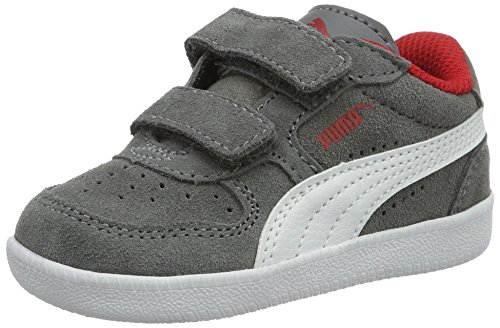 Puma Unisex-Kinder Icra Trainer SD V Inf Low-Top, Grau (Steel Gray White 14), 22 EU