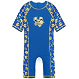HUANQIUE Boys One Piece Swimsuit 3-10Y 50+UV Swimming Costume Outfits