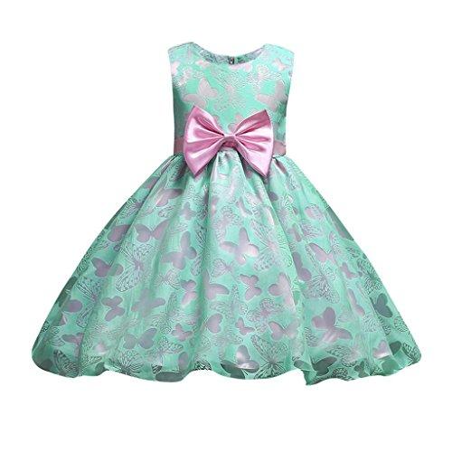 8d8314d3c POLP Niña Vestido Verano Mini Vestido Casual sin Mangas de Impresión Vestidos  Niña Vestido de Gasa