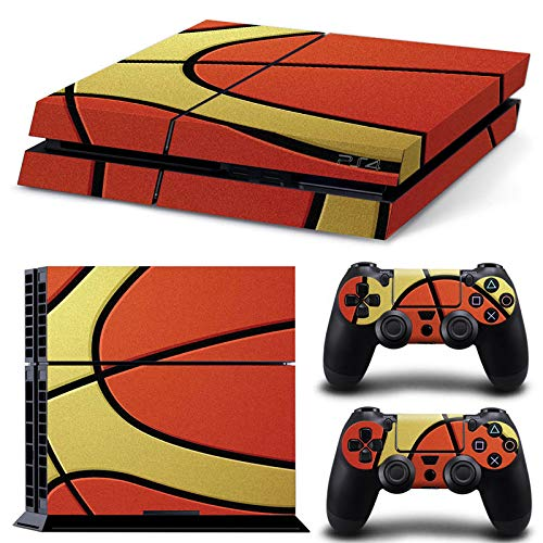Playstation Konsole und 2 Controller - Basketball - PS4 Skin Sticker