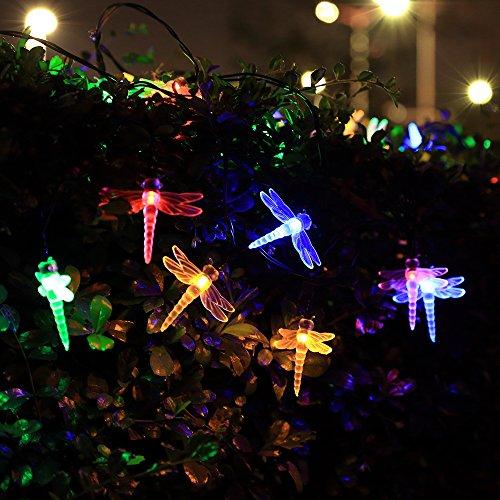 InnooLight 30er LED Solar Lichterkette Libelle Garten Außen 4,8 Meter, Solar Beleuchtung für Party, Weihnachten, Outdoor, Fest Deko usw.