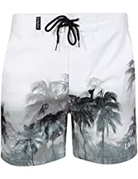 Mens Tokyo Laundry Finn Palm Tree Print Micro Fibre Shorts