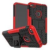 OFU®Para Huawei P8 Lite (2017) 5.2' Smartphone, Híbrido caja de la armadura para el teléfono Huawei P8 Lite (2017) 5.2' resistente a prueba de golpes contra la lucha de viaje accesorios esenciales del teléfono-rojo