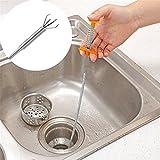 Wokee Flexible Long Reach Klaue Pick up Schmale Biegekurve Grabber Tool Spring Grip 80cm Ausgussbecken, Badewannen und Duschen Drains Reinigung