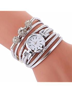Damen Armband Diamant Kreis Uhr HARRYSTORE Schüler Mode Mini wählen Tabelle (Weiß)