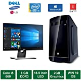 "Desktop PC - Intel Core I5 660 Processor / 18.5"" LED Monitor / 2GB Graphics / Windows 10 Pro / 1TB HDD / DVD / WiFi"