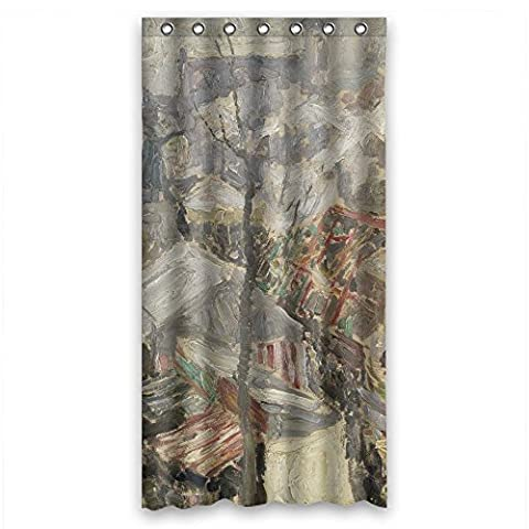 Polyester Bad Vorhänge von Kunst Malerei Gustave De Smet–Fair on Vrijdagmarkt in Gent für Ehemann Hotel GF Frau Kinder Jungen. Gesunde Breite x Höhe/91,4x 182,9cm/W H 90von