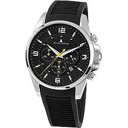 Jacques Lemans 1-1799A-Men's Watch Analogue Quartz Black Silicone Strap