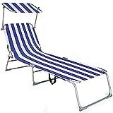 MCTECH® Klappbar Strandliege Freizeitliege Gartenliege Sonnenliege Schaukelliege Campingliege Regiestuhl