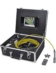 vidaXL Cámara para inspección de tuberías 30 m con grabadora DVR