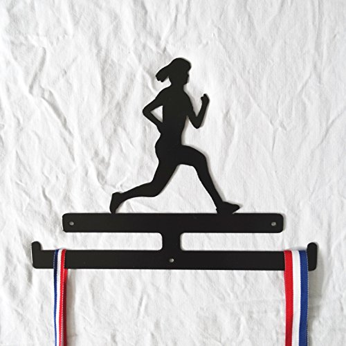 woman-running-medal-rack-hanger-in-black-sprinter-marathon-jogger-fun-run-race-for-life-metal