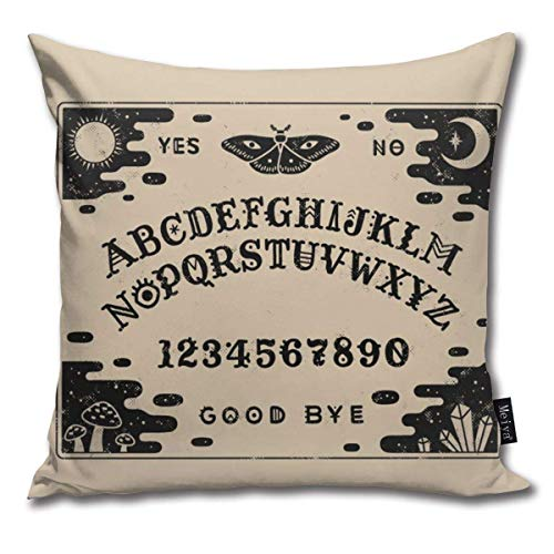 KAKICSA Spirit Board Funny Square Throw Pillow Cases Cushion Cover for Bedroom Living Room Decorative,Size:20 x 20 Inches(50cm x 50cm)