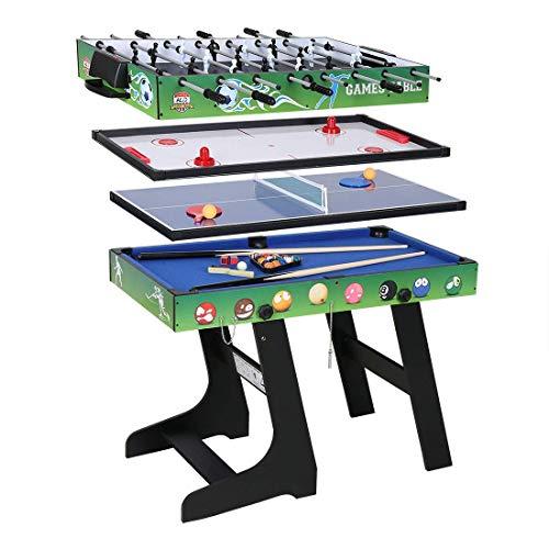 JCF Mesa Multijuegos Plegable 4 1 Mesa Billar, Ping