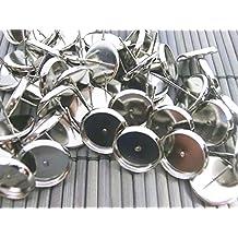 10 Ohrstecker Rohlinge für 12mm Cabochons Farbe bronze #S402