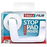 Tesa Easy Cut Frame - Portarrollos con 1 rollo Invisible, 33 m x 19 mm, color blanco