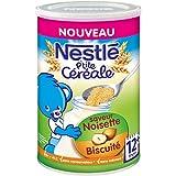 Nestlé Bébé P'tite Céréale Saveur Noisette Biscuité - Céréales Déshydratées dès 12 Mois - Boîte de 400g - Lot de 6
