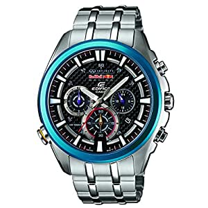 Casio Herren-Armbanduhr XL Edifice Red Bull Racing Collection Chronograph Quarz Edelstahl EFR-537RB-1AER