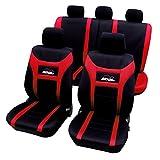 WOLTU AS7259 Sitzbezüge Auto Schonbezüge universal Größe, Super Speed, schwarz-rot