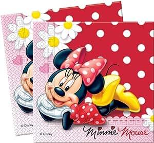 20 Servietten Minnie Mouse Gänseblümchen 33cm