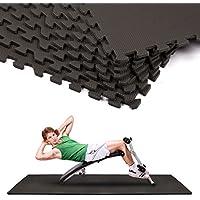 Joyletics® Trainingsmatten-Set »puzzle« 8 Matten inklusive Randstücke | Puzzlematten-Set zum Zusammenstecken | ideal als Unterlegmatten für Fitnessgeräte, Turnen oder Ersatz für herkömmliche Fitnessmatten | 8 Stück, schwarz