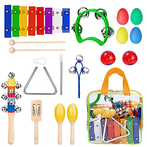 Kinder Musikinstrumente, Kinder Xylophon aus Holz, Perfekt Glockenspiel Holz Geschenke für Babys, Musik Kinderspielzeug, getestet mit EN71, CPSIA