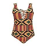 zooarts® 2017Sexy Plus Size Frauen afrikanischen Print Bikini, Bademode Bandage One Piece monikinis Baden Strand Badeanzug, multi, xl