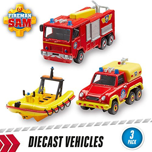 Image of Fireman Sam 3-Pack of Diecast (Styles May Vary)