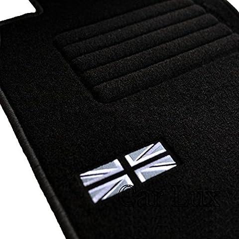 Car Lux - Alfombras coche Alfombrillas personalizadas para MINI Cooper S Cabrio R52 desde 2004-