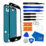 MMOBIEL Front Glas Reparatur Set kompatibel mit Samsung Galaxy S3 Mini i8190 i8195 Series (Schwarz) Display mit Werkzeug