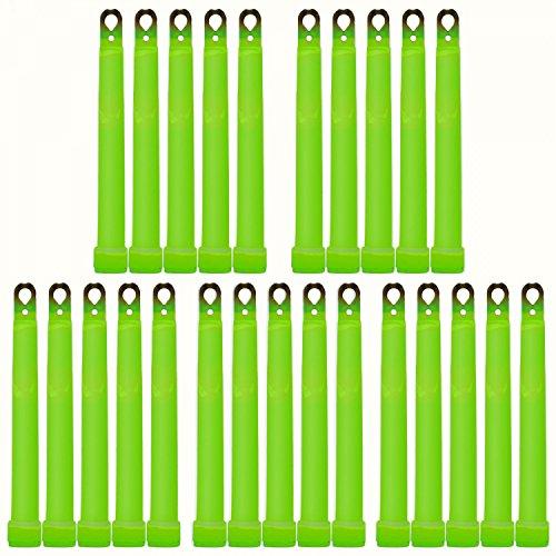 25 Ultra High Power Knicklichter (150x15mm) GRÜN bis 45Min. extrem intensiv inkl. Kordeln