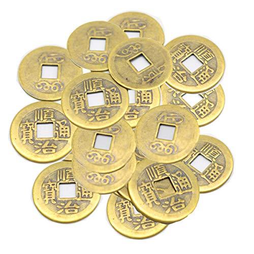 Mengger Monedas Chinas Juguete Feng Shui Antiguas I-ching Monedas de Fortuna para Suerte Salud y Riqueza 100 Piezas