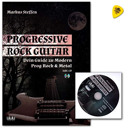 Markus Steffen Progressive Rock Guitar - Libro de guitarra (texto en  inglés, con CD y correa), diseño de Prog Rock & Metal