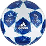adidas finale18Deportes Fútbol, otoño/Invierno, Color White/Football Blue/Bright Cyan/Collegiate Royal, tamaño 4