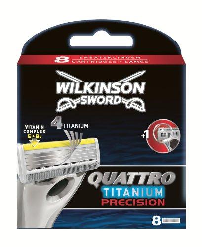 Wilkinson Sword Quattro - Hoja afeitar hombre, 8 unidades