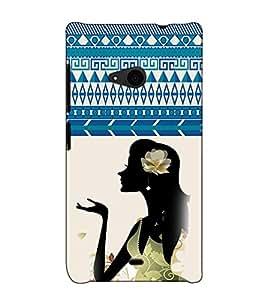 Fuson Designer Back Case Cover for Microsoft Lumia 535 :: Microsoft Lumia 535 Dual SIM :: Nokia Lumia 535 (Flower in the hair theme)