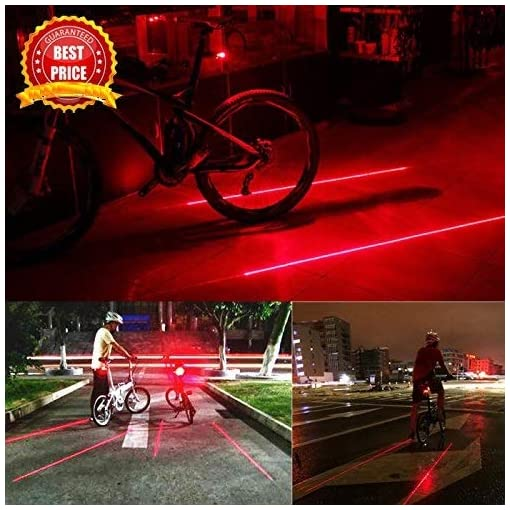 5LED+2Laser Bicycle Tail Light Waterproof Light For Bike Accessories Lights