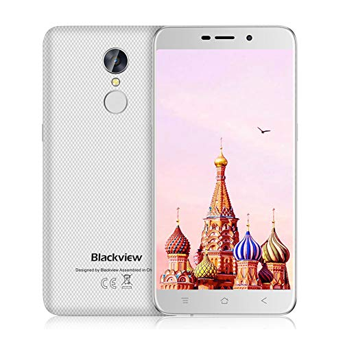 Blackview A10 (2018) Smartphone Dual Sim, 2 GB Ram, 16 GB ROM, 2800mAh, Cámara 2.0MP+5.0MP, 3G Moviles Libres 5.0'' HD...