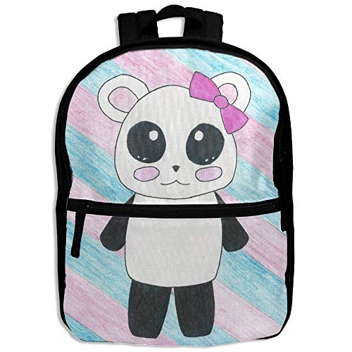 (HOJJP Child Girl Colors Panda Patterns Printed Backpack School Bag)