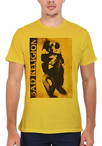Bad Religion Kissing Nuns Sexy Cool Funny Men Women Damen Herren Unisex Top T Shirt-L